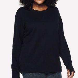 TEK GEAR 3X Black Brushed  Sweatshirt NWT 🖤💖🖤